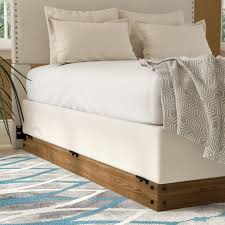 zipcode design winston wood bed frame for box spring u0026 reviews
