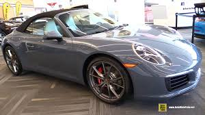 porsche sedan convertible 2017 porsche 911 carrera s cabriolet exterior and interior