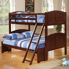 460212 twin over full bunk bed in cappuccino finish by coaster