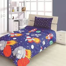 Duvet Cover Double Bed Size Children U0027s Kids Double Bed Size Rocket Design Boys Duvet Cover And