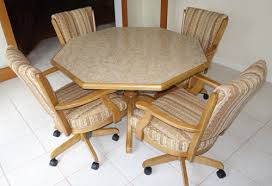 Kitchen Chairs With Rollers Stylist And Luxury Kitchen Table With Rolling Chairs Nice Design