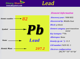 element 82 periodic table lead element in periodic table atomic number atomic mass