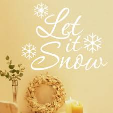 online get cheap kids christmas quotes aliexpress com alibaba group christmas snowflake let it snow quotes pvc wall stickers for living room kids room bedroom home
