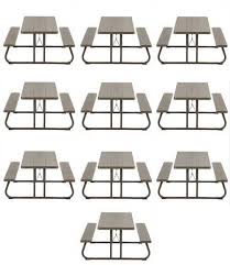 lifetime brown plastic folding picnic table 10 pack on sale ships free