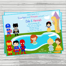 how to make pool party invitations princess and superhero party invitations cimvitation