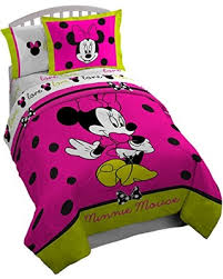 Minnie Mouse Twin Comforter Sets Spring Special Disney Minnie Mouse Neon Twin Full Reversible
