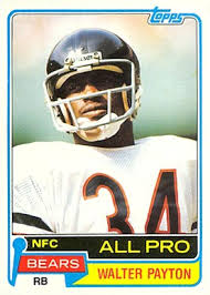 1981 topps walter payton 400 football card value price guide