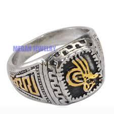 aliexpress com buy ottoman silver plated ring islamic symbol