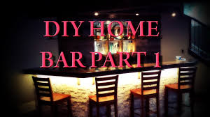 Diy Home Bar by Diy Home Bar Part 1 Planning And Framing Youtube