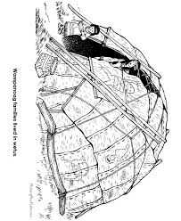 wampanoag american indians thanksgiving coloring pages