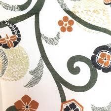 tenugui japanese family crest karakusa fabric green wrapping