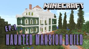 minecraft how to make a haunted mansion halloween build part 1