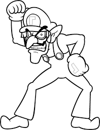 waluigi coloring pages to print waluigi coloring by