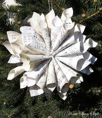 how to make a book page ornament home spun style