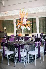 Purple And Silver Wedding Eggplant And Silver Wedding Decorations