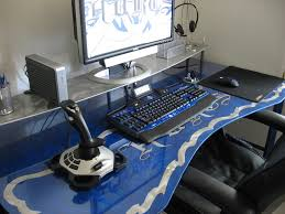 Custom Computer Desk Design by Hurts Don U0027t It U201d Customized Gaming Desk And Keyboard With A