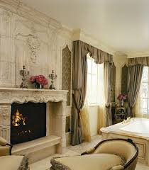 chaise by fireplace living room traditional with wall art