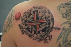 63 elegant compass tattoos for shoulder