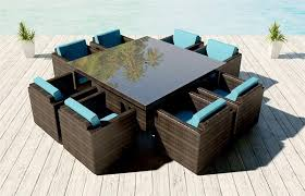 Thick Patio Furniture Cushions Patio Furniture Brienne Outdoor Wicker Dining