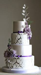 purple and silver wedding 8 lilac and silver wedding cakes photo purple and silver wedding
