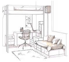 dessin chambre une chambre en dessin