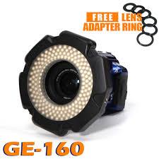 ring light for video camera 85 cri 160 chips dimmable led ring light for dslr dv camcorder