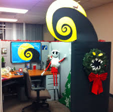 nightmare before office cubical decor skeleton
