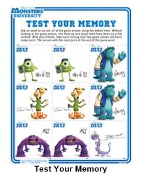 disney freebie free monster monsters university activity sheets