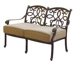 patio furniture deep seating set cast aluminum 7pc santa monica