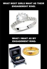 Engagement Meme - girls engagement ring expecations vs reality