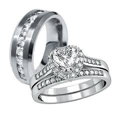 stainless steel wedding ring sets stainless steel wedding rings men justanother me
