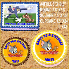tom and jerry cake topper tom jerry edible cake topper wafer rice paper cake decoration