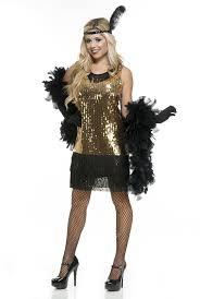 gold sequin flapper dress fancy dress 1920s 1930s gangster moll