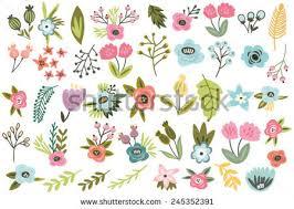 beautiful flowers ornament free vector stock