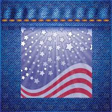 Free American Flag Stickers Sticker With Usa Flag On Denim Background Royalty Free Vector Clip