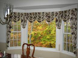 kitchen bay window curtain ideas bay window valance ideas