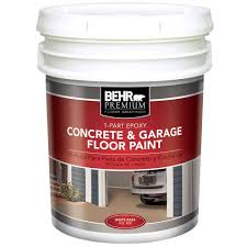 behr premium 5 gal white 1 part epoxy acrylic concrete and garage
