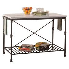 metal top kitchen island hillsdale furniture castille metal kitchen island hayneedle