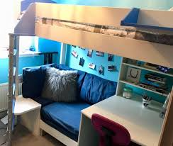 High Sleeper Bed With Desk And Sofa Single High Sleeper Bed With Sofa Bed Storage And Desk With