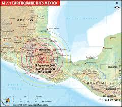 map central mexico central mexico hit by magnitude 7 1 earthquake