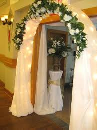 Wedding Arches Decorated With Tulle 14 Best Simple Flower Decorations For Wedding Images On Pinterest