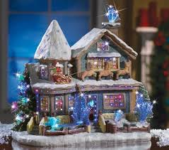 fiber optic house figurine indoor christmas