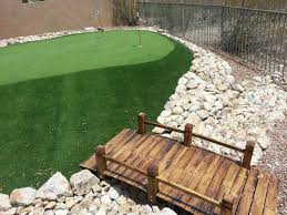residential backyard artificial turf and synthetic lawns