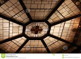 octagon stained glass window round stained glass window in church stock photo image 43015120
