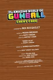 comic book preview the amazing world of gumball cheat code