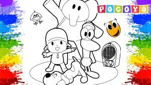 Pocoyo Colouring Pages for kids tv Paint colours Learn Art Page Fun