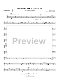 colonel bogey march euphonium 1 bc tc sheet music for piano