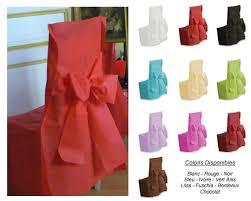 housse de chaise mariage jetable housse de chaise mariage avec nœud paquet de 6 décoration de