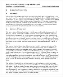 a sample report 11 sample feasibility report free sample example format download