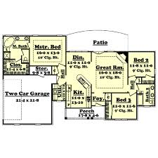 1800 Sq Ft House Plans by Country Style House Plan 3 Beds 2 00 Baths 1600 Sq Ft Plan 430 18